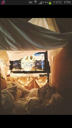 Blanket forts. Just yes. I'll never grow up.