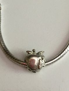 Tibetan Silver Apple with A by ADoorableCreations05 on Etsy