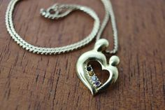 Vintage 12kt yellow gold 15 mother child heart by TheHavenFinds