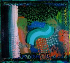 Hodgkin, Howard - Post-Modernism / Abstract Art, In the Bay of Naples, Abstract Landscape, Abstract Art, Howard Hodgkin, Hans Peter, Figure Painting, Contemporary Paintings, Art Music, New Art, Art History