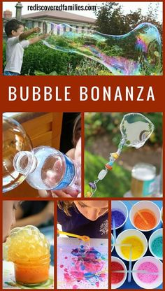 The ultimate collection of bubble activities for kids that will keep them playing for ages! Includes art, science, recipes and homemade wands. Family fun at it's best.