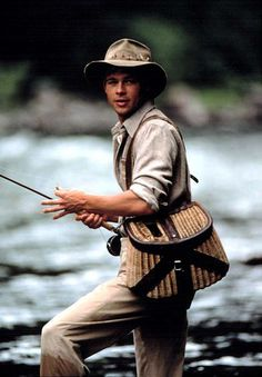 Brad Pitt on the Blackfoot River shadow casting. taught myself how to do this fancy little move when I was about wish I looked as good doing it! Brad Pitt on the Brad Pitt, Beau Film, Gone Fishing, Fishing Tips, Fishing Store, Fishing Pictures, Thelma Et Louise, Fly Casting, Into The West