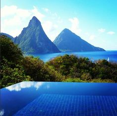 Daily Daydream! It's hard to resist the jungle-draped peaks of the Pitons in St. Lucia.  From mygreatescapes on Instagram