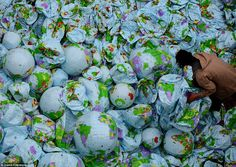 David Cherensa submitted this photograph of thousands of deflating globes for consideratio...