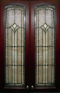 Visions In Glass Stained Glass Cabinets, Stained Glass Door, Glass Cabinet Doors, Kitchen Cabinet Doors, Glass Doors, Elegant Kitchens, Beveled Glass, Panel Doors, Door Knobs
