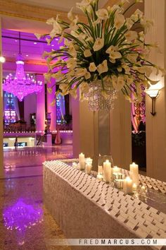 A memorable affair starts here, greeting guests in the remarkable Park Avenue lobby space. Flowers and Décor by Floralia Decorators. Lighting by Intelligent Lighting. Wedding Arrangements, Wedding Centerpieces, Floral Arrangements, Wedding Decorations, Calla Centerpiece, Flower Arrangement, Event Lighting, Table Cards, Wedding Designs