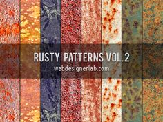 Rusty Patterns Vol. 2 | Webdesigner Lab