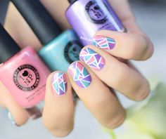 Cute triangle nails