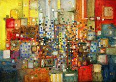 "Saatchi Online Artist: Maria Klimek; Paint, 2011, Mixed Media ""TRANQUILLE"""