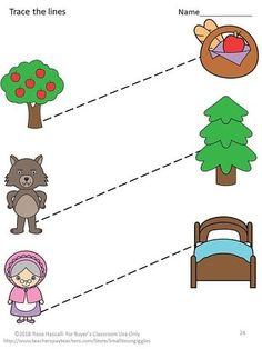 Fine Motor Skills Fairy Tales Tracing Activities P-KK image 7 Writing Center Kindergarten, Kindergarten Special Education, Preschool Writing, Preschool Printables, Preschool Worksheets, Preschool Crafts, Preschool Kindergarten, Tracing Worksheets, Play To Learn