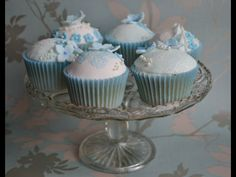Something Blueveil cupcakes Themed Cupcakes, Cupcake Cookies, Desserts, Food, Postres, Deserts, Hoods, Meals, Dessert