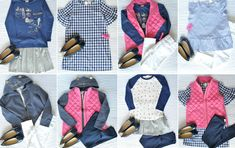 Girls Mix and Match Back to School Outfits with J. Crew Factory by Get Your Pretty On Curvy Outfits, Chic Outfits, Kids Outfits, Fashion Outfits, School Outfits For College, Summer School Outfits, School Fashion, Kids Fashion, Black Jeans Outfit