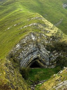 a magical cave beneath a mountain or whatever land form that is called [Harpea's Cave, Navarra, Spain]