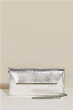 Silver clutch bag from Next