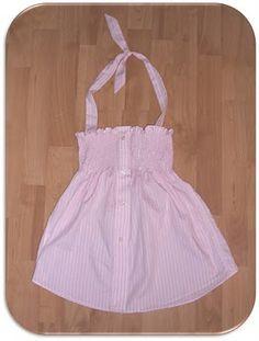 Men's Shirt to Smocked Halterneck TUTORIAL    http://su-sews-so-so.blogspot.com/2010/09/mens-shirt-to-smocked-halterneck.html