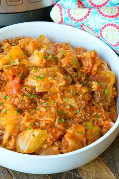 This Instant Pot stuffed cabbage casserole is so tasty! Really simple to make with the same stuffed cabbage flavors you love just much easier to make and eat. Only 10 minutes in your pressure cooker creates the perfect comfort food that will remind you of your childhood.