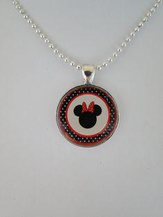 Minnie Mouse Pendant Necklace.