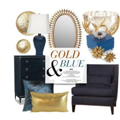 Gold & Blue Decor