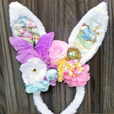 Woodland fairy abode bunny. Easter headbands, Rabbit ears | Puddle Ducklings | madeit.com.au
