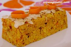 Pastel de mijo y mazapán http://www.mireiagimeno.com/recetas/pastel-de-mijo-y-mazapan