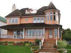 Victorian Houses on Mackinac Island, MI