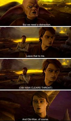 Funny.:-D Star Wars Clone Wars, Star Wars Art, Star Trek, Anakin And Padme, Star Wars Jokes, High Ground, War Film, Star War 3, Anakin Skywalker