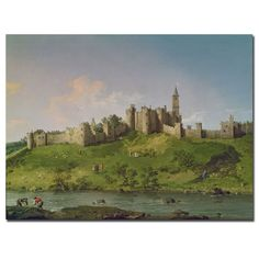 """Canaletto 'Alnwick Castle' Canvas Art 
