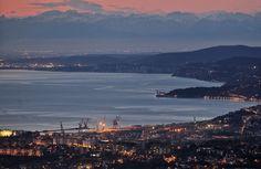 Tramonto a Trieste, panorama mozzafiato - Foto - Il Piccolo
