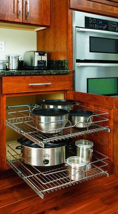 Rev-A-Shelf In-Cabinet Chrome Cabinet Organizer - contemporary - cabinet and drawer organizers - Lowe's