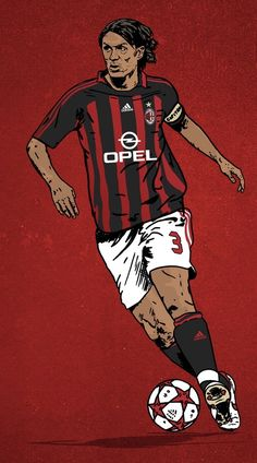 the legend Paolo Maldini Best Football Players, Football Gif, Retro Football, World Football, Soccer Players, Soccer Art, Soccer Poster, Football Celebrations, Milan Wallpaper