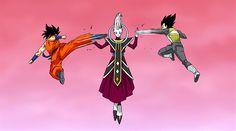 Photo: Goku And Vegeta Vs Whis.