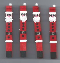 Altered Clothespin Santas by SybilMcC - Cards and Paper Crafts at Splitcoaststampers
