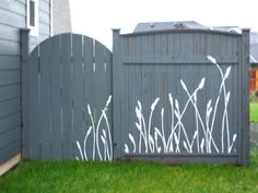 Fence mural. I can't draw a good stick figure, but I think this is doable.