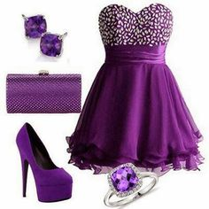 Stylish varied collection of outfits for women Purple Outfits, Purple Dress, Party Dress Outfits, Cute Dresses, Formal Dresses, Sexy Dresses, Fancy Gowns, Dress Images, Purple Fashion