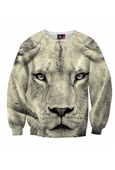 """$59 If you feel like a leader, then the """"Safari King"""" is perfect for you. Subtle, desert-like colors combined with the image of the king of animals will highlight your charismatic personality. Wear this royal sexy sweater and you will definitely stand out from the crowd!"""
