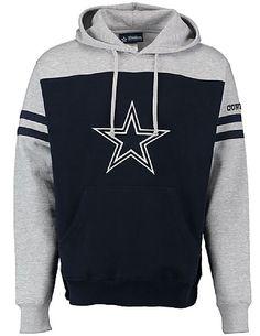 Dallas Cowboys Mens Color Blocke Brooks Pullover Screened Hoodie Sweatshirt $54.95