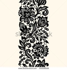 Black Lace Seamless Pattern Stock Vector Royalty Free 355559108 Black Lace Seamless Pattern Stock Vector Royalty Free 355559108 Kamaldeen Matale kamaldeenmatale Henna designs Similar Images Stock Photos 038 Vectors nbsp hellip Embroidery Fashion, Lace Embroidery, Fleurs Art Nouveau, Compass Tattoo, Black Lace Fabric, Bordado Floral, Border Embroidery Designs, Fire Tattoo, Floral Pattern Vector