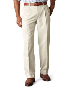Dockers D3 Classic Fit Easy Refined Khaki Pleated Pants