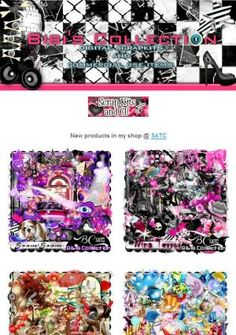 """Ad:2 New Scrapkits """"BOOM BOOM"""" & """"NINA TERROR"""", & More by Bibi's Collection! http://mad.ly/0f6253"""