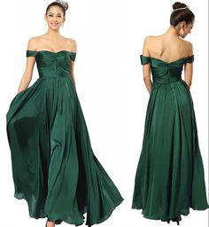 Off Shoulder Sweetheart Prom Dresses Dark Green Chiffon A Line Zipper Back 2015 Formal Occasion Dresses Party Evening Dress Princess Prom Dress Prom Dress Under 100 From Puredress, $62.31  Dhgate.Com