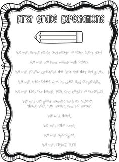 1st grade expectations.