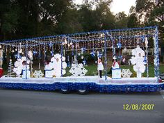 Snowflake Christmas Parade Float