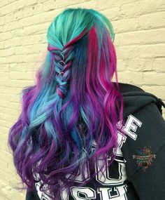 Photos and videos from kasey ohara ( Hot Hair Colors, Ombre Hair Color, Color Fantasia, Coloured Hair, Mermaid Hair, Dream Hair, Rainbow Hair, Trends, Pretty Hairstyles