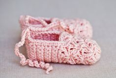 Stunning crochet Point Shoes for little ballerinas (free pattern)