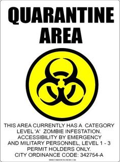 Aluminum Quarantine Zombies Sign + 5 FREE Stickers:    This fun aluminum sign is professionally made using quality, signage materials.