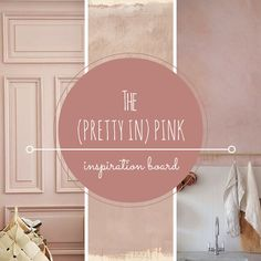 dusty pink, muted pink inspiration board • the Round Button blog
