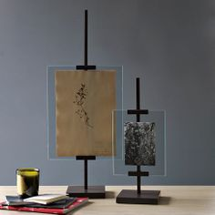 Metal Easel Adjustable Floating Frames from West Elm.