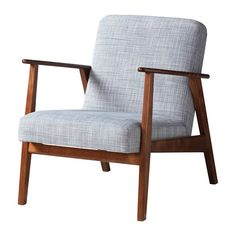 IKEA EKENÄSET Armchair Isunda grey Clean lines and generous with space, regardless if you are going to read, play a game or just relax in it.