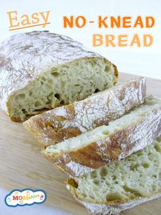 Easy No-Knead Bread Recipe perfect for the lunch box | MOMables.com