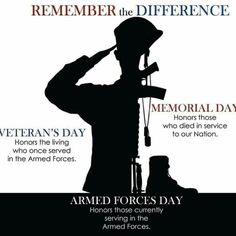 diff between memorial day and veterans day
